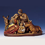 Holy Family with Ox and Donkey
